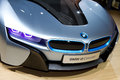 Bmw i concept car istanbul autoshow november istanbul turkey Royalty Free Stock Photography