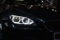 BMW M6 Xenon Headlight Royalty Free Stock Photo