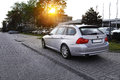 Bmw touring view of a modern car e Stock Images