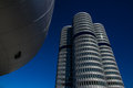 Bmw tower the four cylinder serves as headquarters of in munich Royalty Free Stock Image
