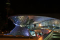 Bmw world ligths at night in munich Royalty Free Stock Photography