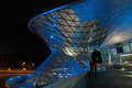 Bmw world at night in munich Stock Photo