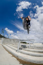 Bmx big air jump Royalty Free Stock Photo