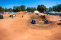 BMX Cycle Dirt Track Venue Stock Image