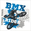BMX rider - urban team. Vector design. Royalty Free Stock Photo