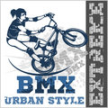 BMX rider - urban team. Vector design Royalty Free Stock Photo