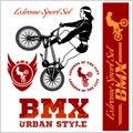 BMX t-shirt Graphics. Extreme bike street style - Vector BMX cyclyst