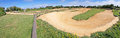 Bmx track panorama a panoramic image of a dirt layout Stock Image