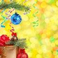 Boże Narodzenia i Nowy Rok background-05 Obrazy Royalty Free