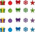 Boże Narodzenia vector ikona set Zdjęcia Royalty Free