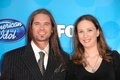 Bo bice and wife caroline at the american idol grand finale nokia theatre hollwyood ca Stock Photography