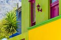 Bo kaap cape town detail the colourful situated in in the western is a great tourist spot view Royalty Free Stock Photo