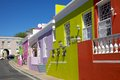 Bo Kaap Cottages Stock Photos