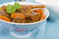 Bo kho vietnamese beef stew cooked with lemongrass star anise bay leaf and cassia bark served with rice Royalty Free Stock Images