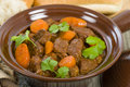 Bo kho vietnamese beef stew cooked with lemongrass star anise bay leaf and cassia bark served with rice Royalty Free Stock Photos