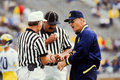 Bo schembechler michigan football coach former legendary head image taken from color slide Royalty Free Stock Images