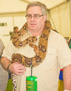 Boa Constrictor at Marymas Fair. Royalty Free Stock Photos