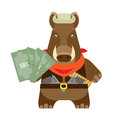 Boar with money illustration of a on a white background Stock Photos