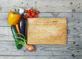 Board cooking ingredient close up wood more vegetable Stock Images