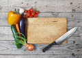 Board cooking ingredient knife close up wood more vegetable Royalty Free Stock Photos