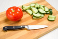 Board for cutting vegetables Royalty Free Stock Photo