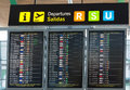 Board departures in the Madrid Barajas Airport Royalty Free Stock Photo