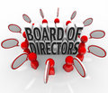 Board of directors people speech bubbles discussion company lead meeting with in a about a s direction leadership top executives Royalty Free Stock Photos