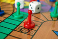 Board game sorry the with coloured pieces and dice Royalty Free Stock Photography