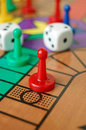 Board game sorry the with coloured pieces and dice Stock Image