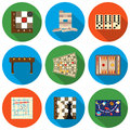 Board Games Set Icons In Flat ...