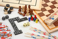 Board games on white Royalty Free Stock Photo