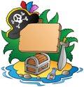Board on pirate island