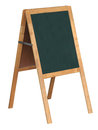Board with stand clear blackboard in isolate background for outdoor cafe or restaurant menu Stock Photography