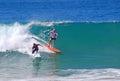 Board surfers at Aliso Beach, Laguna Beach, California. Royalty Free Stock Photo