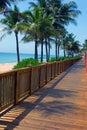 Board Walk at the Beach Stock Image