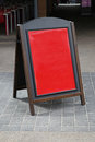 A board wooden with red frame for messages Stock Image