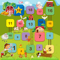 Boardgame board game with farm animals Stock Images