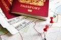 Boarding pass and passport Royalty Free Stock Photo