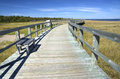 Boardwalk at an eco centre new brunswick canada bouctouche dunes central Stock Image