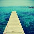 Boardwalk in Formentera, Balearic Islands Stock Photos