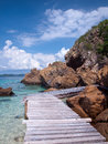 Boardwalk in Ko Kham island Stock Photography