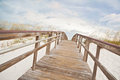 Boardwalk Path Leads to the Beach and Ocean Royalty Free Stock Photography