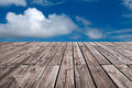 Boardwalk and sky Royalty Free Stock Photo