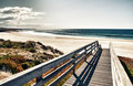 Boardwalk to beach Royalty Free Stock Photo
