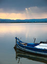 Boat in albufera lake Royalty Free Stock Photo