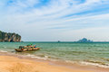 A boat in ao nang beached beach Stock Photo