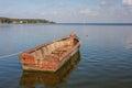Boat in the bay of Juodkrante Royalty Free Stock Photo