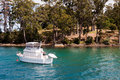 Boat in bay, Port Arthur Royalty Free Stock Photography