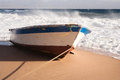 Boat on a beach Stock Image