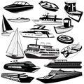 Boat black icons